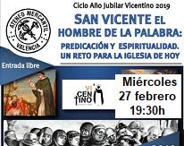 Información ciclo Año Jubilar Vicentino 2019